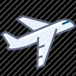 airplane, holiday, plane, take-off, tourism, travel, yumminky icon