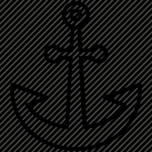 anchor, boat, holiday, sea, ship, travel, yumminky icon
