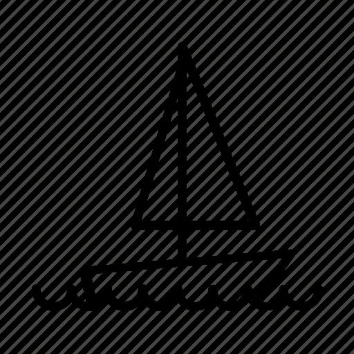 ban, holiday, sailboat, summer, water, waves, yumminky icon
