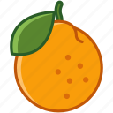 food, fruit, mandarin, orange, tropical, vitamins, yumminky icon