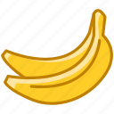 bananas, fit, food, fruit, tropical, vitamins, yumminky icon