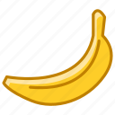 banana, fit, food, fruit, tropical, vitamins, yumminky icon
