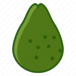 avocado, fit, food, fruit, tropical, vitamins, yumminky icon