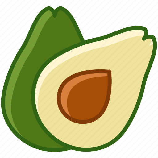 avocado, fit, food, fruit, tropical, vitamins, yumminky icon