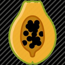 fit, food, fruit, papaya, tropical, vitamins, yumminky icon