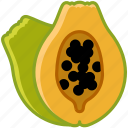 fit, food, fruit, papaya, tropical, vitamins, yumminky icon
