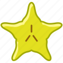 fit, fruit, karambola, star, tropical, vitamins, yumminky icon