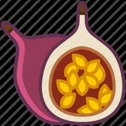 fit, food, fruit, maracuja, tropical, vitamins, yumminky icon