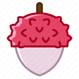 fit, food, fruit, litchi, tropical, vitamins, yumminky icon