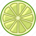 fit, food, fruit, lime, tropical, vitamins, yumminky icon