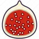 fig, fit, food, fruit, tropical, vitamins, yumminky icon