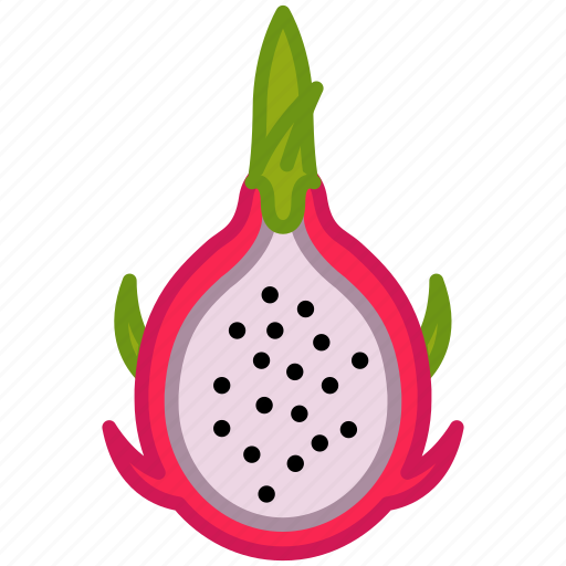 dragonfruit, fit, fruit, pitahaya, tropical, vitamins, yumminky icon