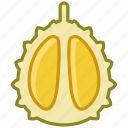 durian, fit, food, fruit, tropical, vitamins, yumminky icon