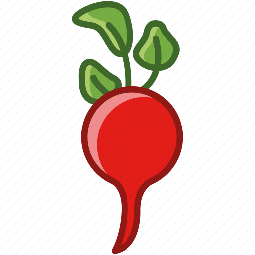 bio, food, garden, radish, vegetable, vitamins, yumminky icon