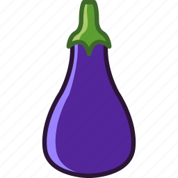 aubergine, bio, eggplant, garden, vegetable, vitamins, yumminky icon