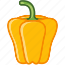 bio, garden, paprika, pepper, vegetable, vitamins, yumminky icon