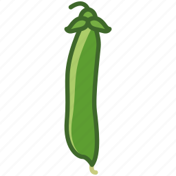 bio, garden, husk, peas, vegetable, vitamins, yumminky icon