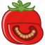 bio, garden, slice, tomato, vegetable, vitamins, yumminky icon