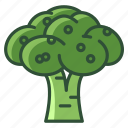 bio, broccoli, food, garden, vegetable, vitamins, yumminky icon