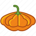 bio, garden, gourd, halloween, vegetable, vitamins, yumminky icon