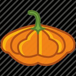 bio, garden, gourd, halloween, vegetable, vitamins, yumminky icon