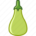 bio, garden, gourd, vegetable, vitamins, yumminky, zucchini icon