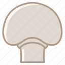 food, garden, kitchen, mushroom, vegetable, vitamins, yumminky icon