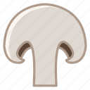 food, garden, mushroom, slice, vegetable, vitamins, yumminky icon