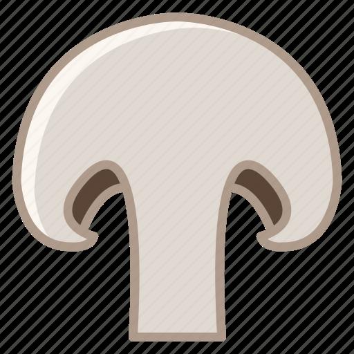 food, garden, mushroom, slice, vegetable, vitamins, yumminky icon