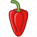 food, garden, paprika, pepper, vegetable, vitamins, yumminky icon