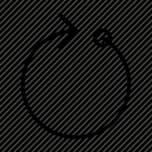 arrow, loading, pc, progress, ring, waiting, yummy icon