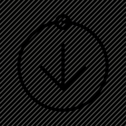 arrow, down, downloading, pc, progress, wait, yummy icon