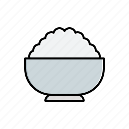 bowl, food, rice icon