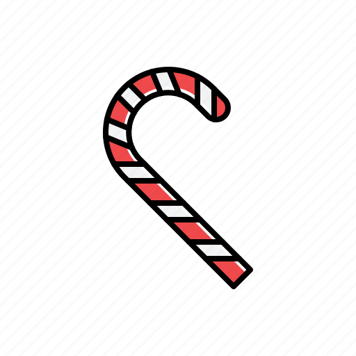 candy, cane, food icon
