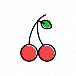 cherries, food icon