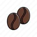 bean, coffee icon