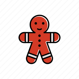food, gingerbread, man icon