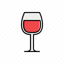 food, glass icon