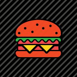 bread, fast food, food, hamburger icon