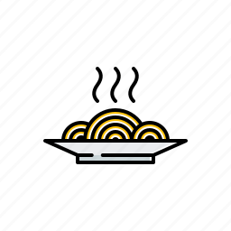 food, hot, noodles icon