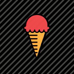 cream, food, ice icon