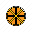food, orange icon