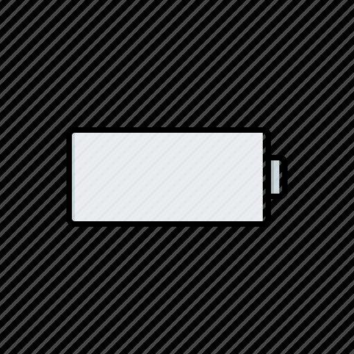 battery, empty, multimedia icon