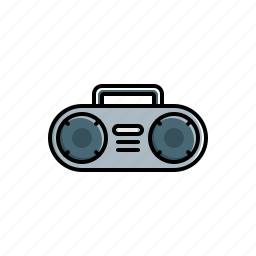 boombox, multimedia icon