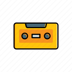 cassette, multimedia icon