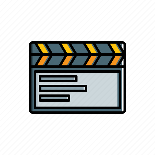 cinema, clapboard, multimedia icon