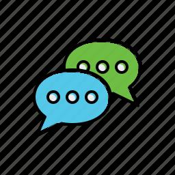 box, dialogue, multimedia icon