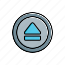 eject, multimedia icon