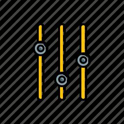 equalizer, multimedia icon