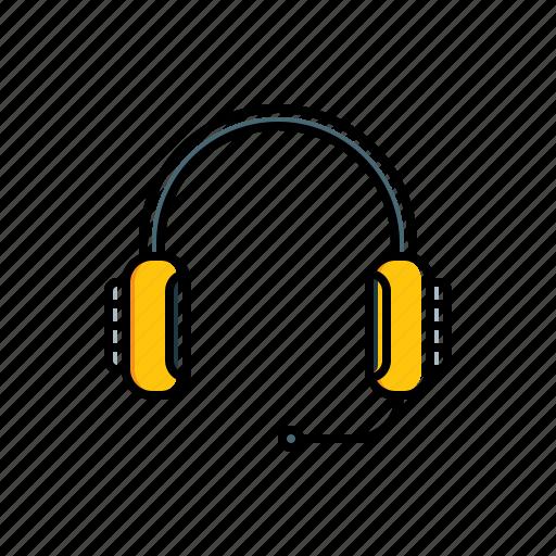 headphone, multimedia icon
